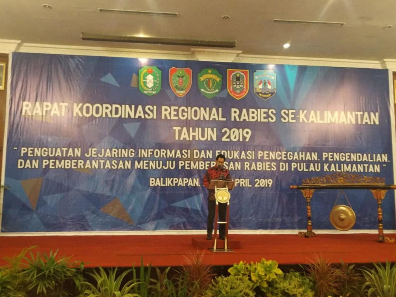 Rakor Regional Rabies se-Kalimantan Tahun 2019