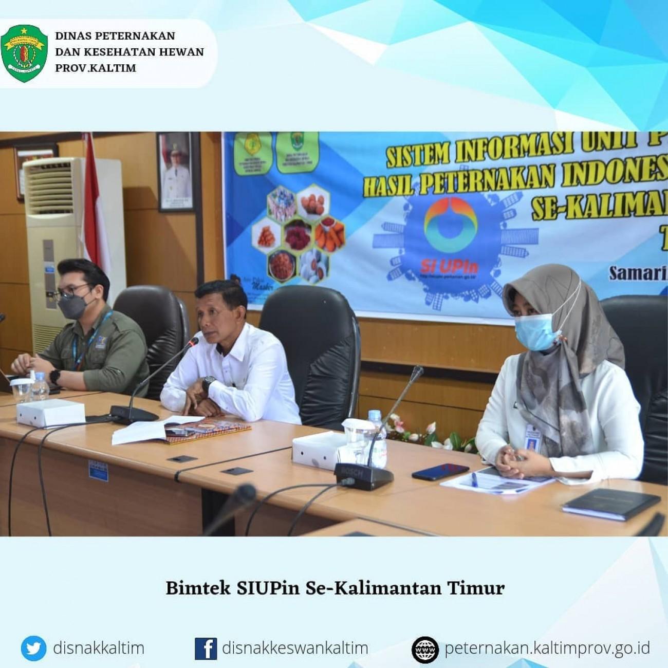 Bimtek SIUPin Se-Kalimantan Timur
