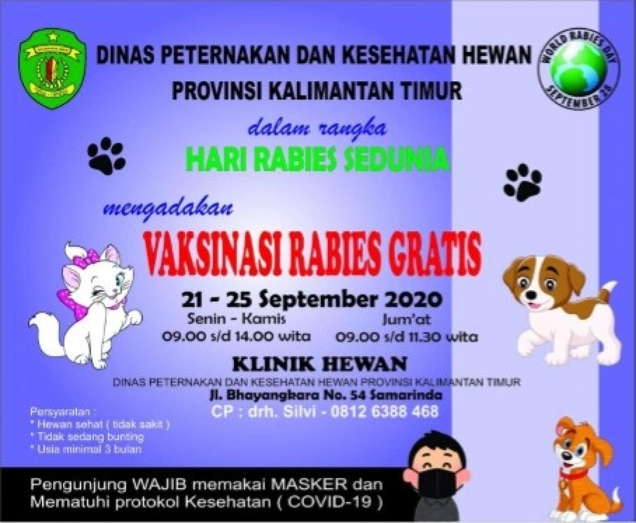 Menyongsong Hari Rabies Sedunia, Dinas Peternakan Adakan Vaksinasi Hewan Gratis