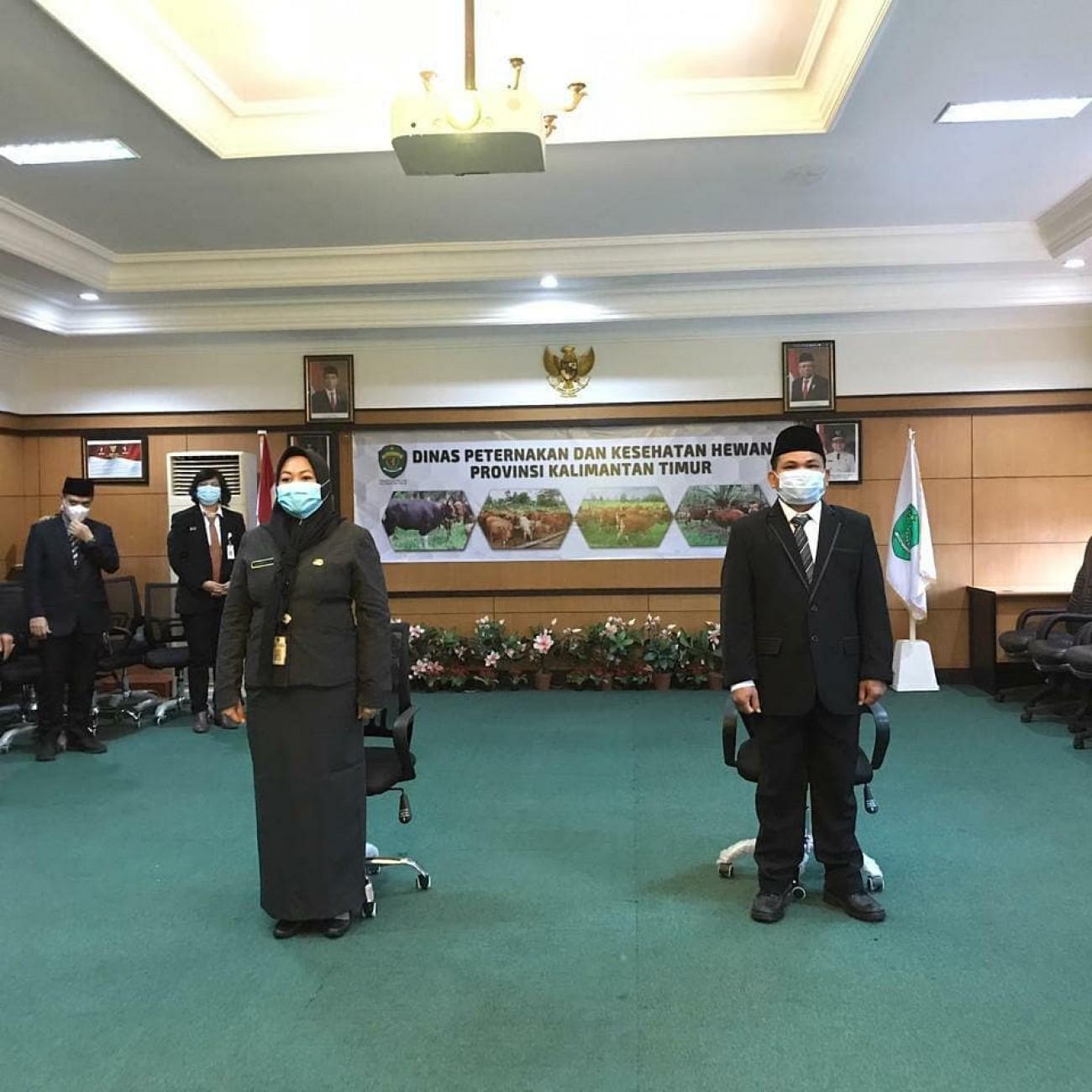 Gubernur Kaltim melantik 2 pejabat baru di lingkup Dinas PKH