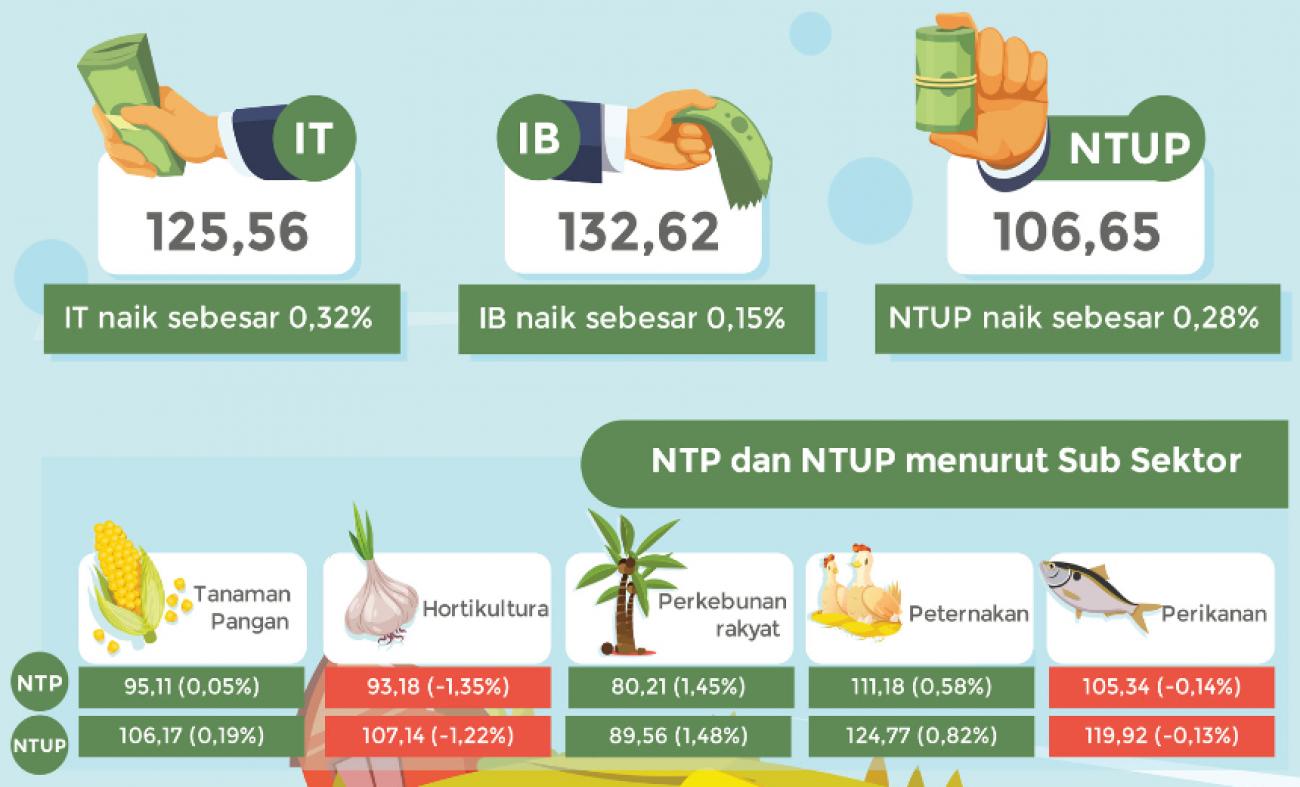 NTPT (Peternakan) Desember 2019 mengalami peningkatan 0,58 persen terhadap November 2019.