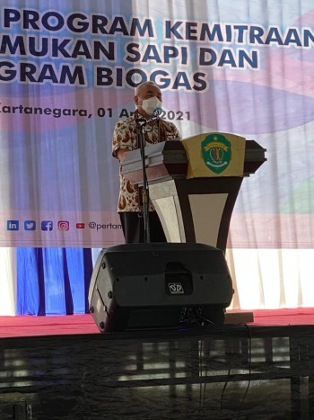 Seremonial Program Penggemukan Sapi dan Program Biogas