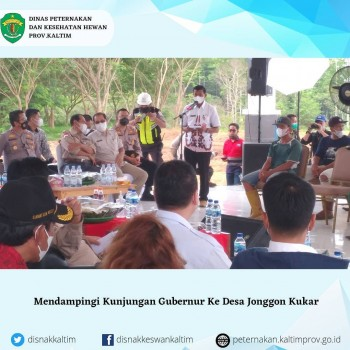 Kunjungan Gubernur di Desa Jonggon Jaya Kab. Kutai Kartanegara
