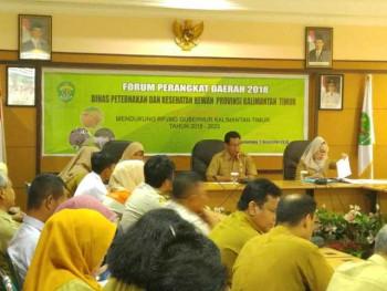 Forum Pembahasan Rancangan Renstra Disnakkeswan Kaltim 2018-2023.