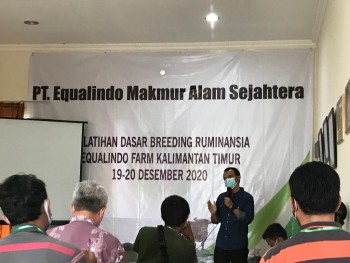 Pelatihan Dasar Breeding Ruminansia PT. Equalindo Makmur Alam Sejahtera Kalimantan Timur.