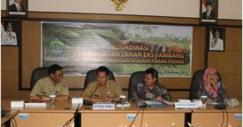 Rapat Koordinasi Pemanfaatan Lahan Pasca Tambang Untuk Penanaman Hijauan Pakan Ternak