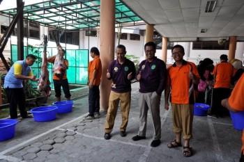 Pemotongan Hewan Qurban Tahun 2019 Di Lingkungan Kantor DPKH Kaltim